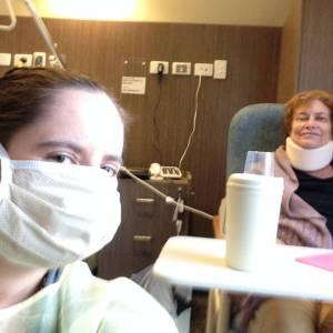Elizabeth and Melanie in rehab